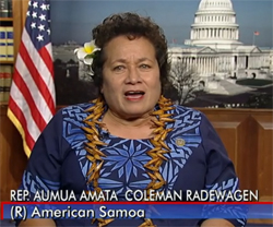 Congresswoman Aumua